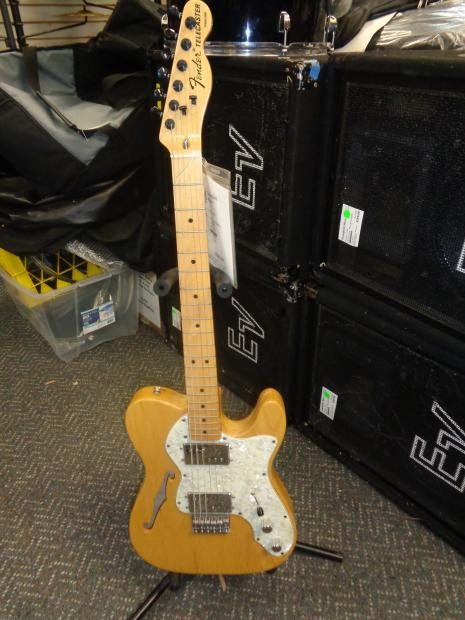 used fender mexican thinline telecaster hh natural semi hollow electric guitar reverb. Black Bedroom Furniture Sets. Home Design Ideas
