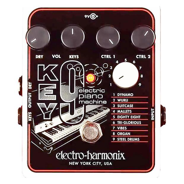 electro harmonix key 9 electric piano machine effect pedal reverb. Black Bedroom Furniture Sets. Home Design Ideas