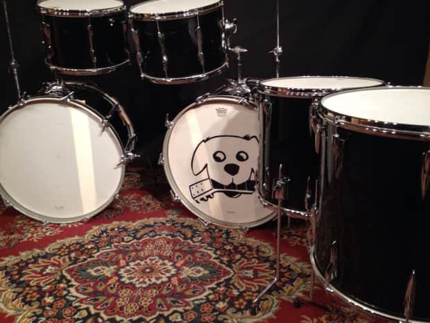 Vintage 1975 Premier Double 6 Pc Bass Drum Kit Reverb