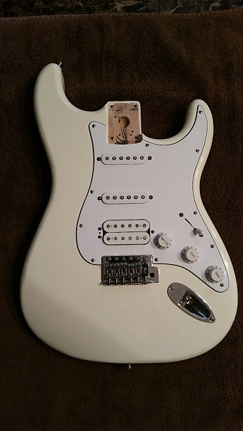 fender stratocaster 2008 mim mexico white hss body reverb. Black Bedroom Furniture Sets. Home Design Ideas