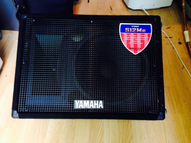 Yamaha s12me floor monitor black reverb for Yamaha hs80m specs