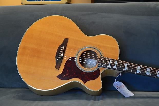 used takamine eg523sc jumbo acoustic electric guitar solid reverb. Black Bedroom Furniture Sets. Home Design Ideas