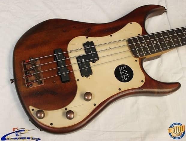 axl badwater apj 820 bass guitar antique brown emg pickups reverb. Black Bedroom Furniture Sets. Home Design Ideas