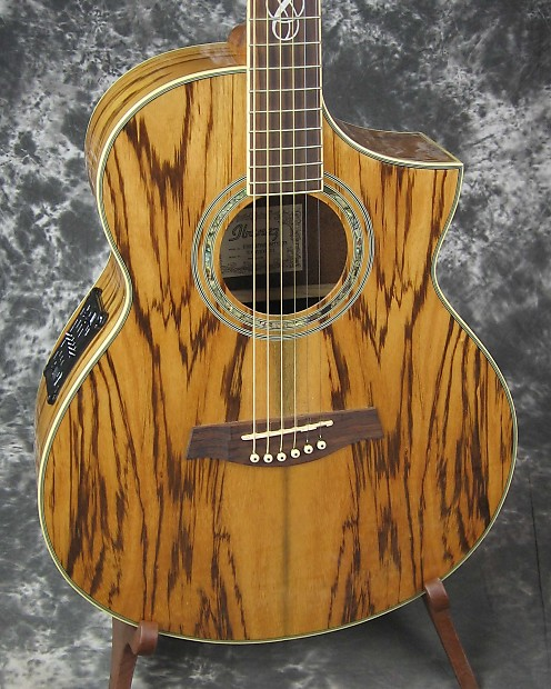 exc used ibanez ew20zwe zebrawood acoustic electric guitar reverb. Black Bedroom Furniture Sets. Home Design Ideas