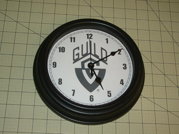 Guild studio wall clock blackglass lens85 for Black glass wall clock