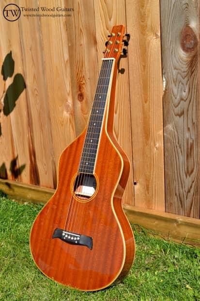 Mahogany Wood Guitar ~ Balance series by twisted wood guitars solid mahogany
