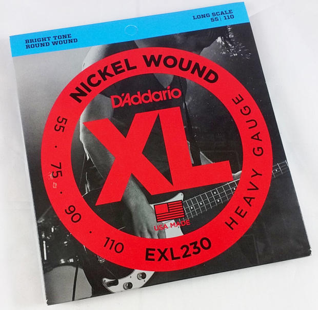 d 39 addario exl230 nickel round wound electric bass 4 string set heavy gauge long scale 55 110. Black Bedroom Furniture Sets. Home Design Ideas