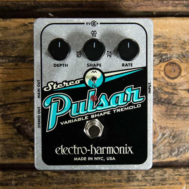 electro harmonix stereo pulsar tremolo pedal reverb. Black Bedroom Furniture Sets. Home Design Ideas