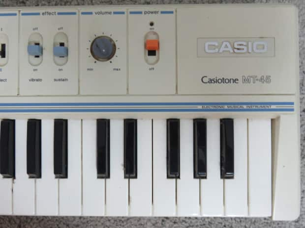 Vintage casio casiotone mt 45 electronic piano keyboard for Classic house organ sound