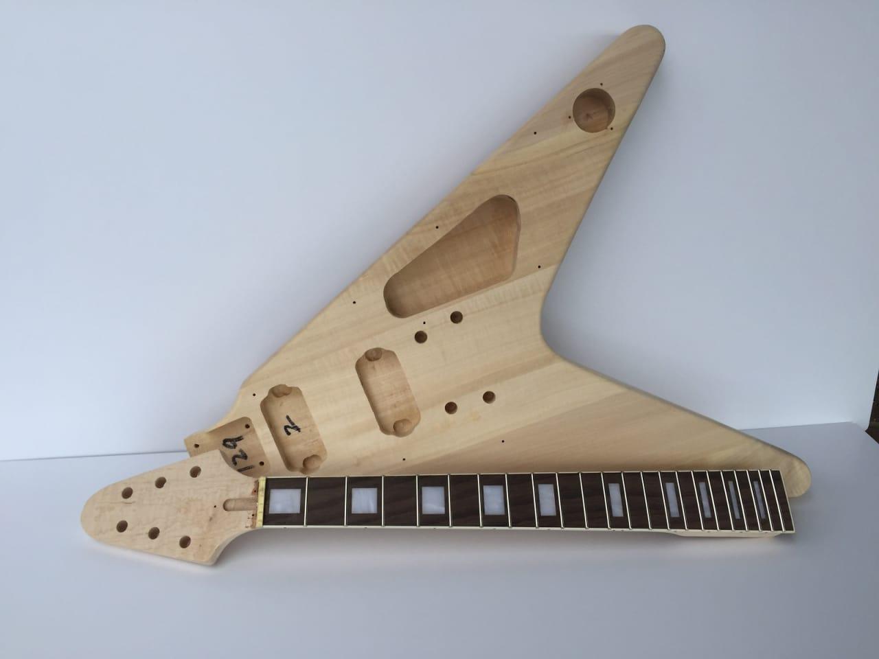 Build Your Own Flying V Guitar Kit