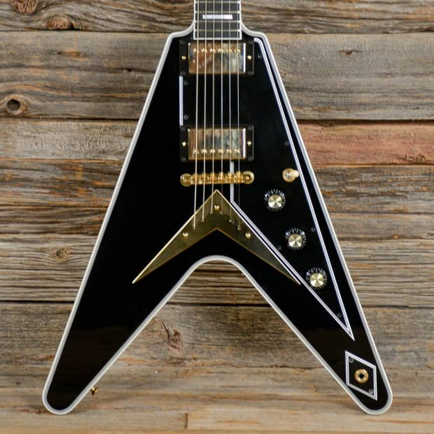 Used Gibson Flying V : gibson flying v custom black used s377 reverb ~ Russianpoet.info Haus und Dekorationen
