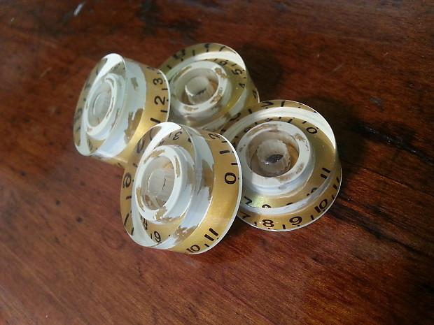 jat custom guitar parts speed knobs aged gold cream reverb. Black Bedroom Furniture Sets. Home Design Ideas