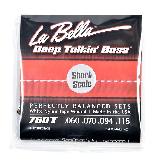 la bella 760ts deep talkin bass white nylon short scale tape reverb. Black Bedroom Furniture Sets. Home Design Ideas