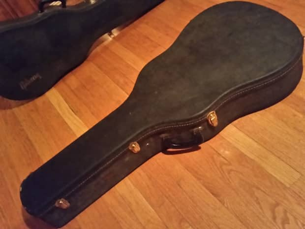 gibson acoustic archtop guitar case vintage 1960s j 45 reverb. Black Bedroom Furniture Sets. Home Design Ideas