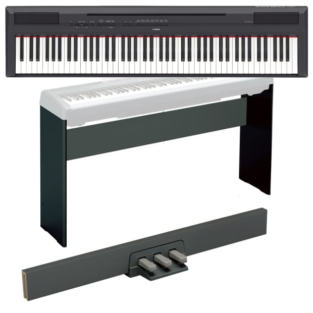 Yamaha p115 black digital piano w stand bench pedal for Yamaha p115 piano
