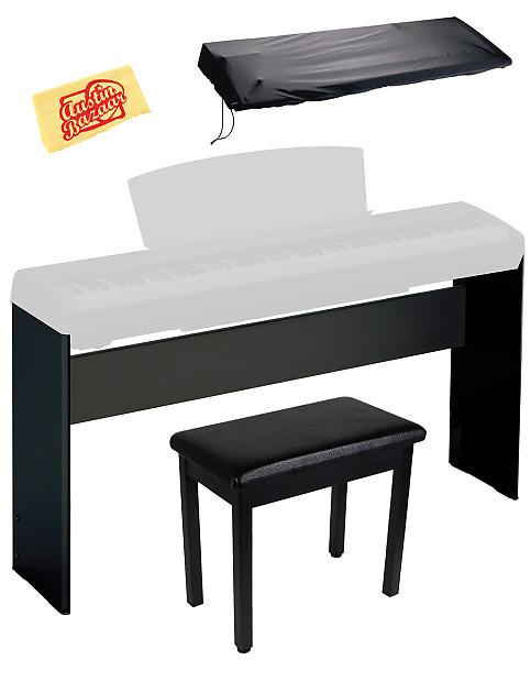 Yamaha l85b digital piano stand for p35 p85 p95 p105 for Yamaha p105 digital piano bundle
