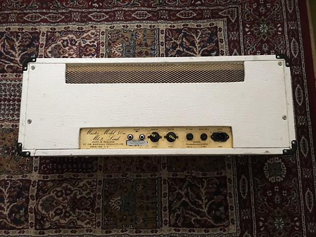 marshall jmp mkii 50 watt 2204 1976 white reverb. Black Bedroom Furniture Sets. Home Design Ideas