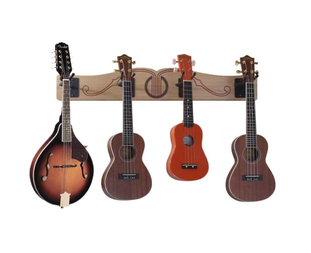 pro file wall mounted ukulele mandolin hanger reverb. Black Bedroom Furniture Sets. Home Design Ideas