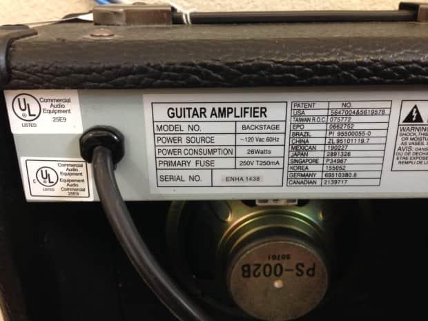 peavey backstage guitar amp 26 watt as is for parts no reverb. Black Bedroom Furniture Sets. Home Design Ideas