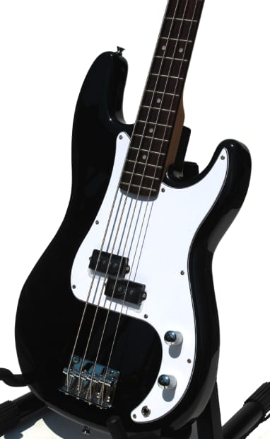 electric bass guitar with full package for beginners black reverb. Black Bedroom Furniture Sets. Home Design Ideas
