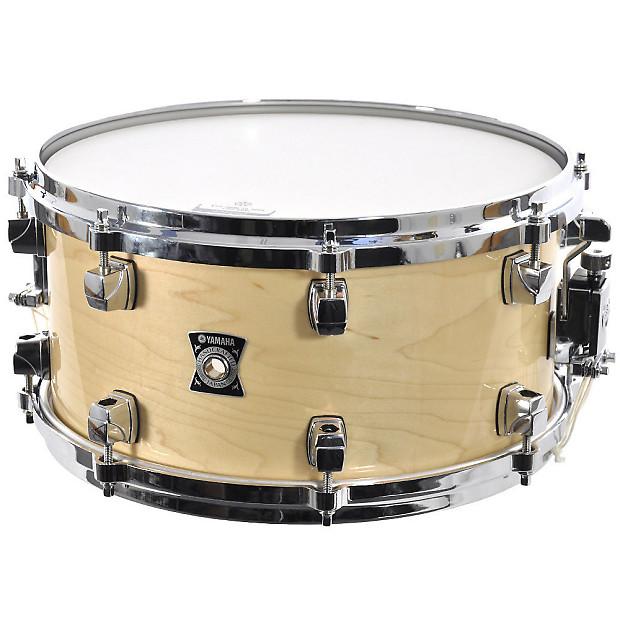 yamaha 13x6 5 sensitive snare drum red pearl natural reverb. Black Bedroom Furniture Sets. Home Design Ideas