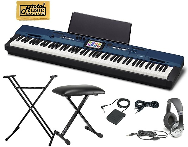 Casio privia pro px 560 piano with keyboard stand bench reverb Keyboard stand and bench