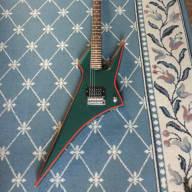 <p>Hondo H1 Death Dagger Electric Guitar 1980&#039;s Pelham Blue</p>  for sale