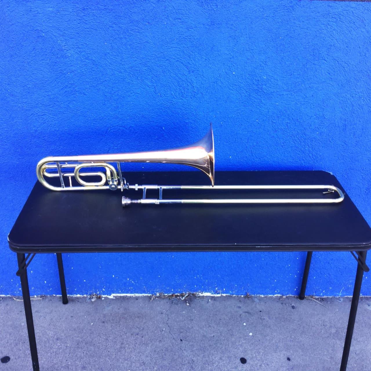 Yamaha ybl 321 bass trombone rose brass bell reverb for Yamaha trombones for sale