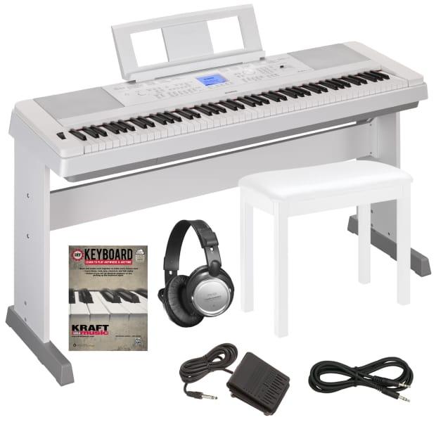 Yamaha dgx 660 portable grand digital piano white key for Yamaha dgx 660 bundle