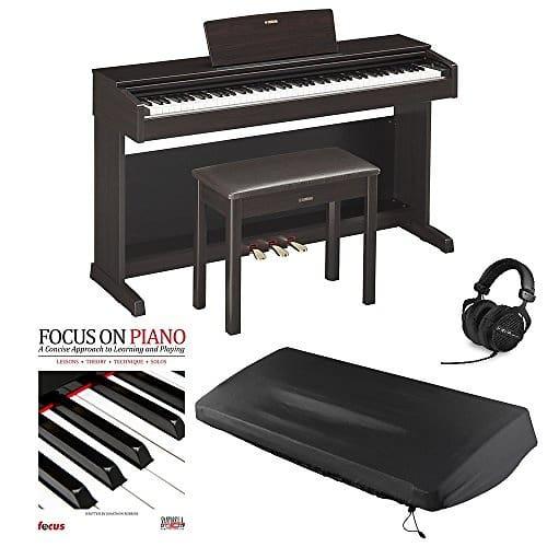 Yamaha ydp143r digital piano with beyerdynami dt990 reverb for Yamaha digital piano controller