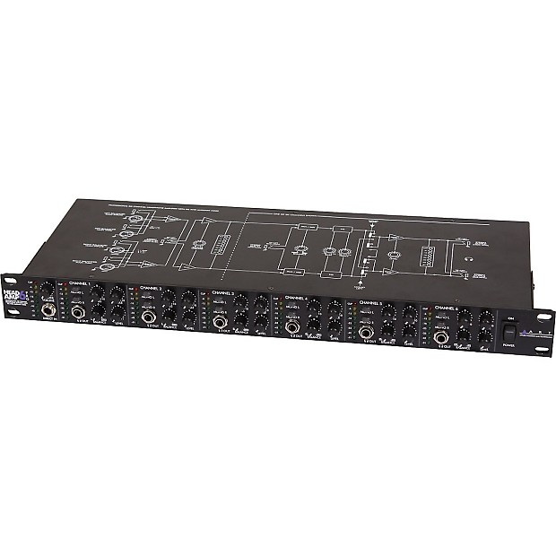 art headamp6pro 6 channel rack mount headphone amp w eq reverb. Black Bedroom Furniture Sets. Home Design Ideas