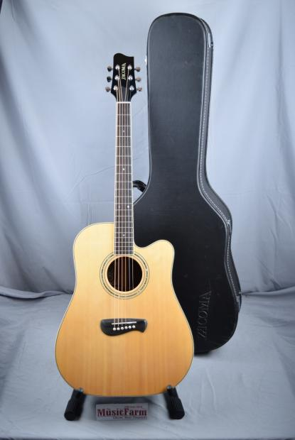 tacoma dr14ce7 acoustic electric guitar with hardshell case made in usa reverb. Black Bedroom Furniture Sets. Home Design Ideas