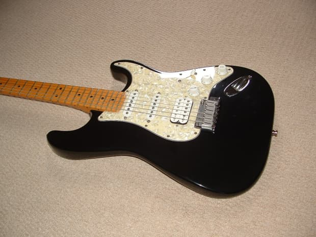 fender stratocaster lonestar 1996 black 50th anniversary reverb. Black Bedroom Furniture Sets. Home Design Ideas