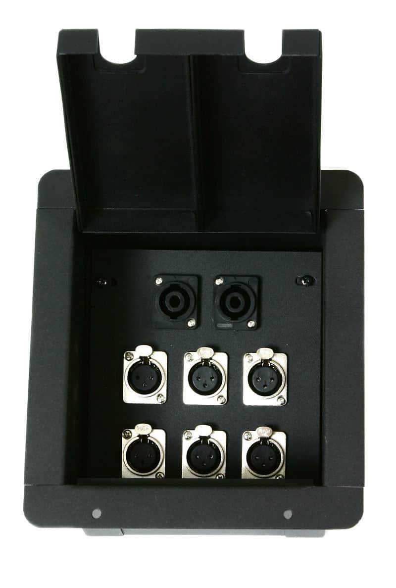 Elite Core Recessed Floor Box With 6 Xlr Amp 2 Speakon Reverb