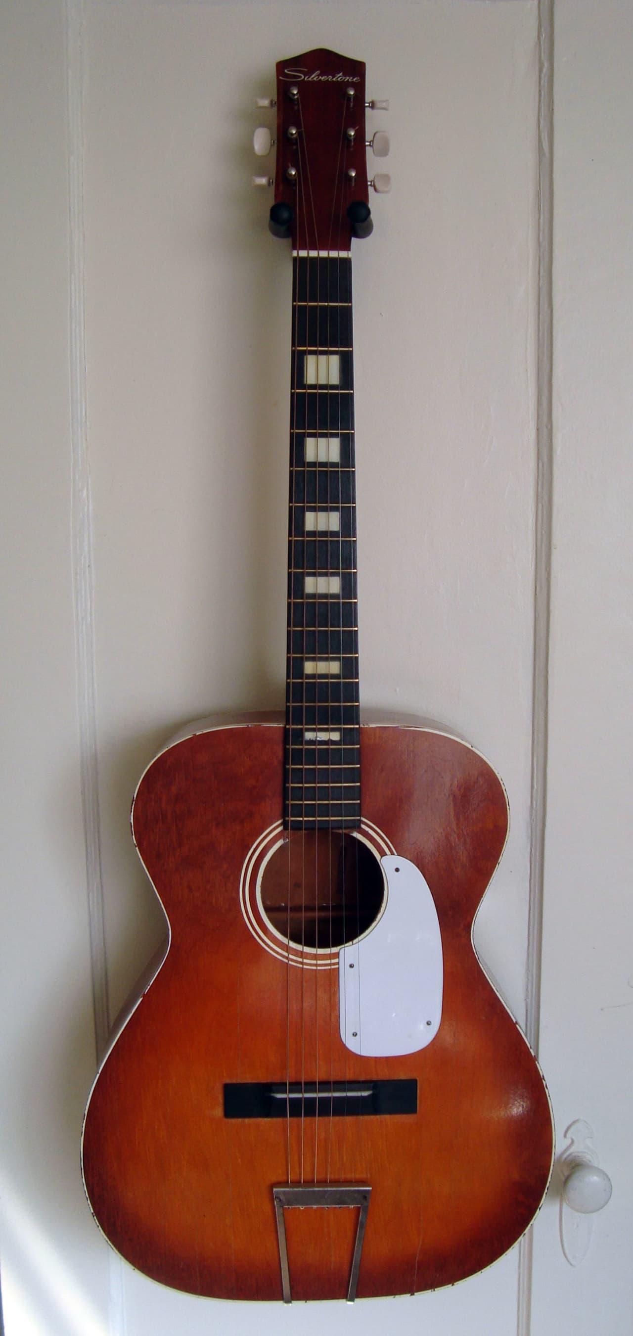 Vintage Silvertone H615 Acoustic Guitar | Reverb