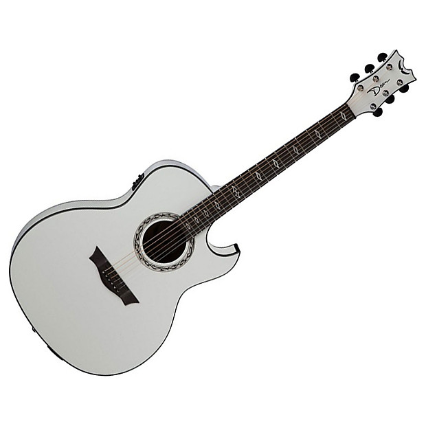dean exhibition acoustic electric w aphex guitar white reverb. Black Bedroom Furniture Sets. Home Design Ideas