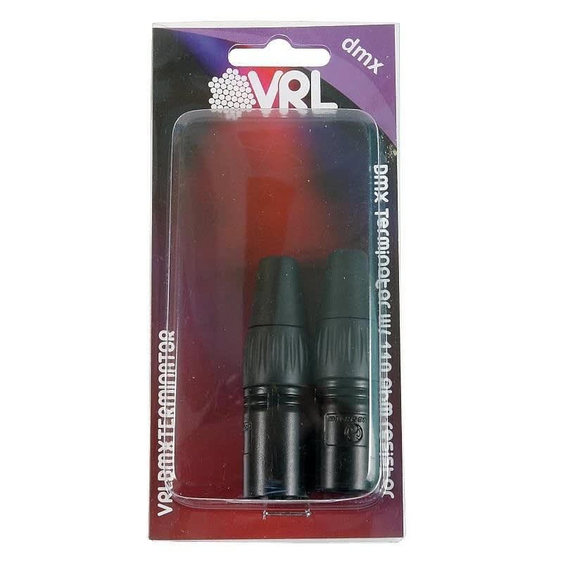 VRL VRLDMXTERMINATOR 3 Pin And 5 Pin DMX Terminator Set