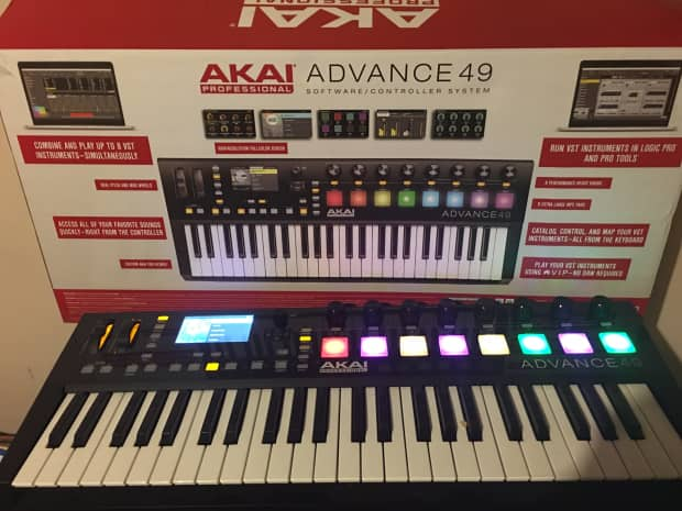 akai advance 49 2016 black reverb. Black Bedroom Furniture Sets. Home Design Ideas