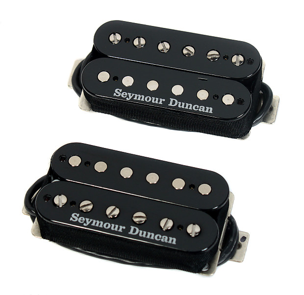 Duncan Pearly Gates Humbucker Pickup Set Black Page Les