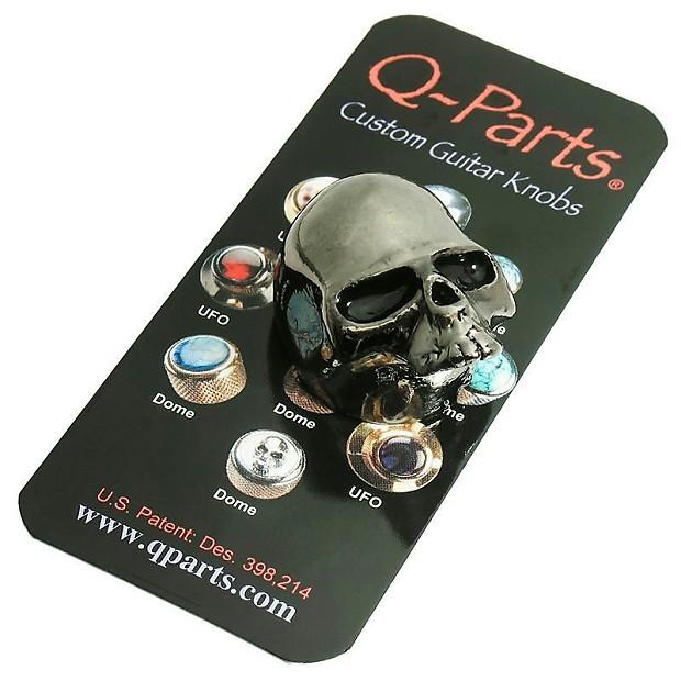 q parts skull ii custom guitar volume tone knob black chrome reverb. Black Bedroom Furniture Sets. Home Design Ideas