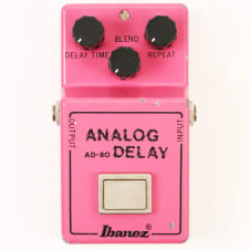 1980 Ibanez AD-80 Analog Delay Pedal - Super Clean AD-80, Sounds Great! image