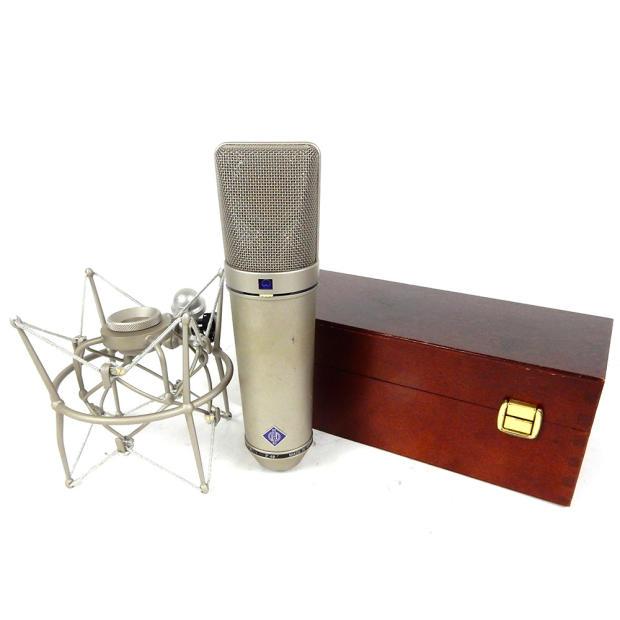 neumann u 87 ai condenser microphone with wooden box and shock mount u87 reverb. Black Bedroom Furniture Sets. Home Design Ideas