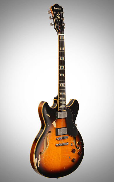 Ibanez ASV100FMD Electric Guitar, Yellow Sunburst, with ...
