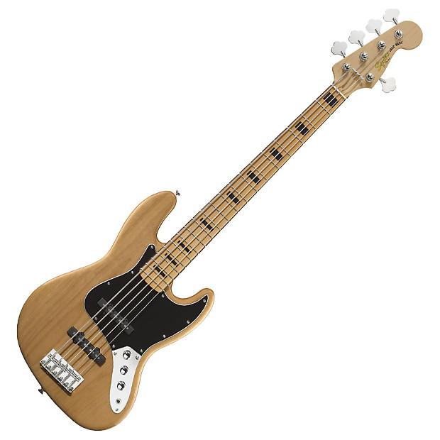 squier 5 string vintage modified jazz bass guitar reverb. Black Bedroom Furniture Sets. Home Design Ideas