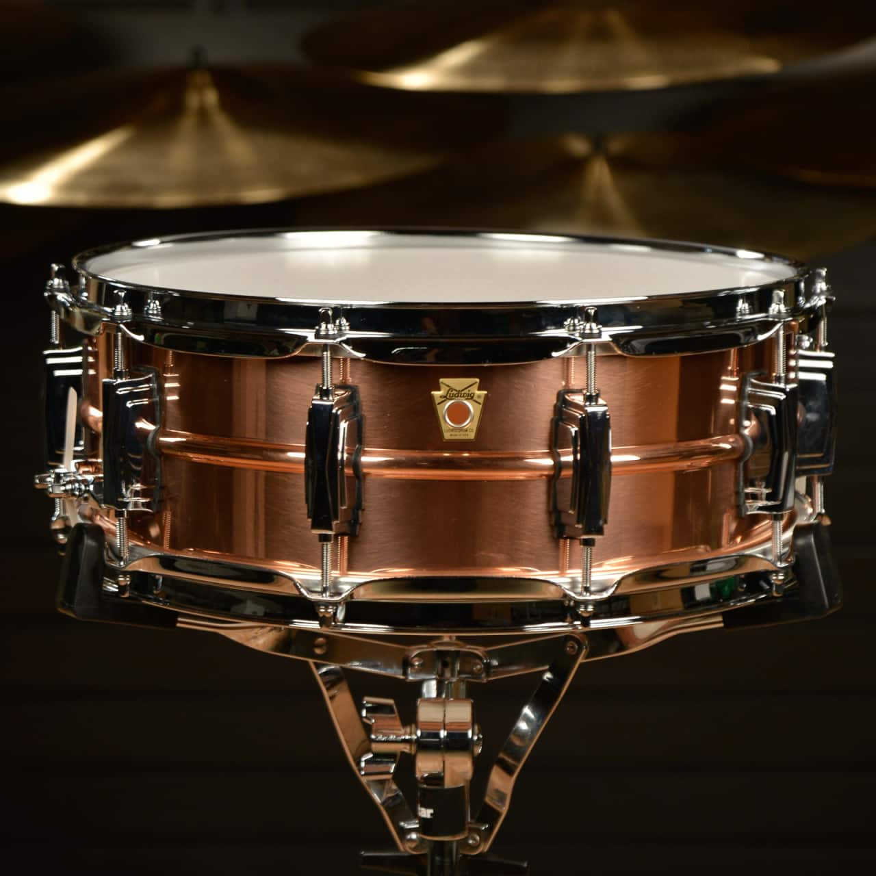 ludwig 5x14 copper snare drum w imperial lugs reverb. Black Bedroom Furniture Sets. Home Design Ideas