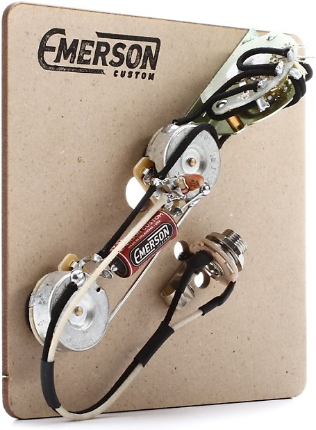 emerson custom 4-way prewired kit for telecaster guitars ... telecaster wiring diagram emerson