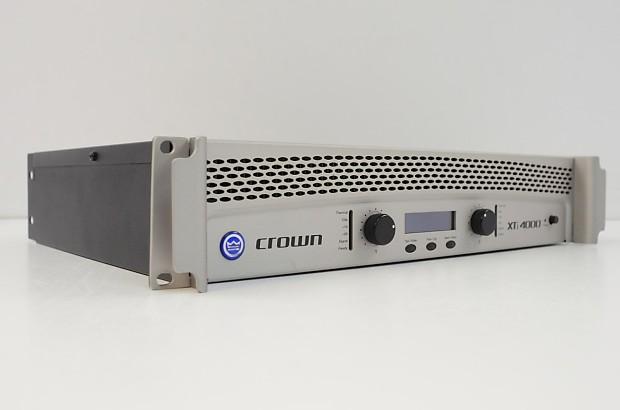 crown xti 4000 power amplifier xti4000 amp reverb. Black Bedroom Furniture Sets. Home Design Ideas