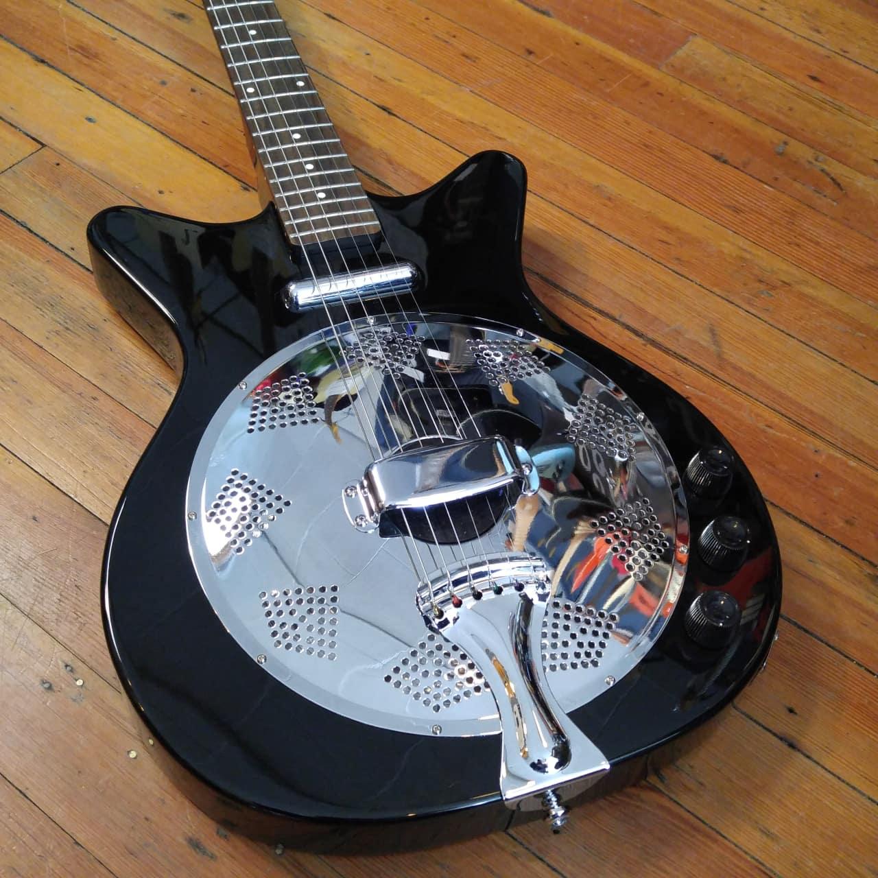 danelectro 39 59 acoustic electric resonator black reverb. Black Bedroom Furniture Sets. Home Design Ideas