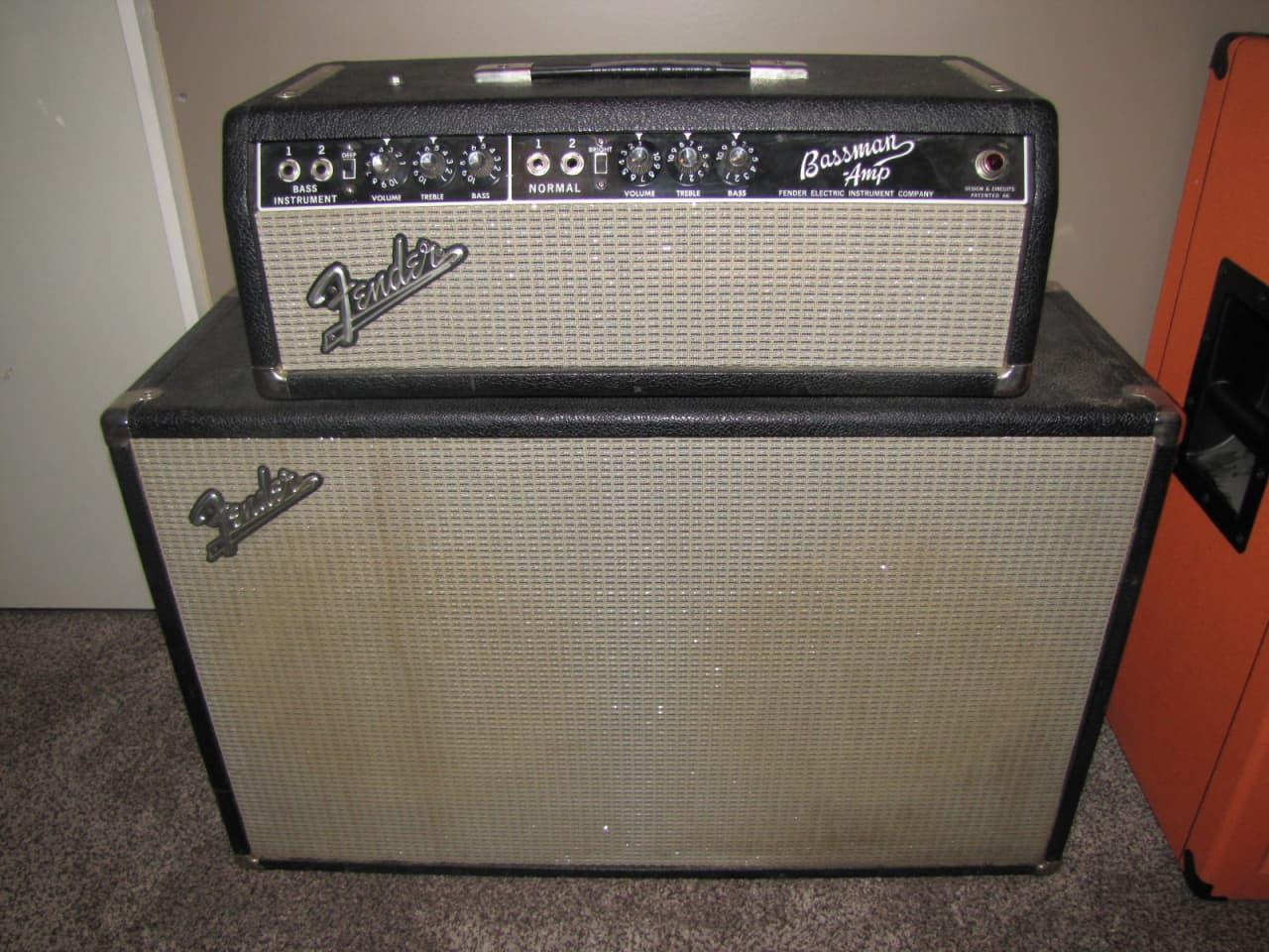 Fender Vintage Bassman Aa165 Head Amp Cabinet Feic 1965 Reverb