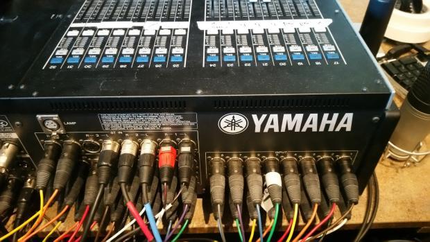 Yamaha m7cl 48 with dante card aviom card and aviom a 16 for Yamaha dante card
